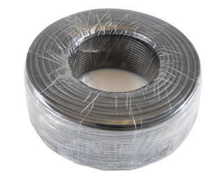 Hose coil stretch wrap package