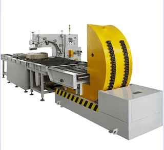 Horizontal full-auto coil wrapping packing machine for steel coil