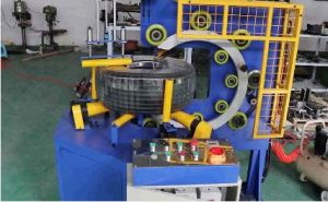 pipe coil wrapping machine