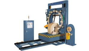 7 wire PC strand packing and wrapping machine