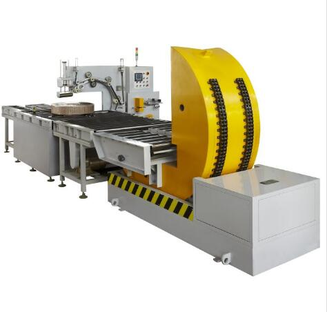Inline automatic coil wrapping machine packing copper strip and pipe coils