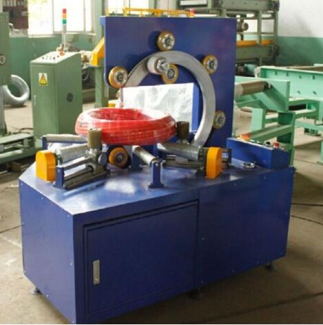 hydraulic pipe coil wrapping machine