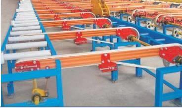 transfer belt conveyor for aluminum profile bundle