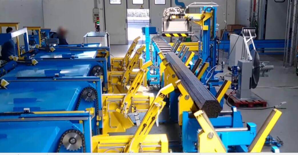 automatic packing line for steel tube bundles
