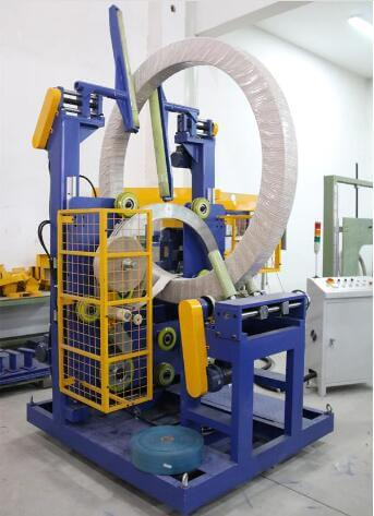 Semi-automatic bearing wrapping and packing machine