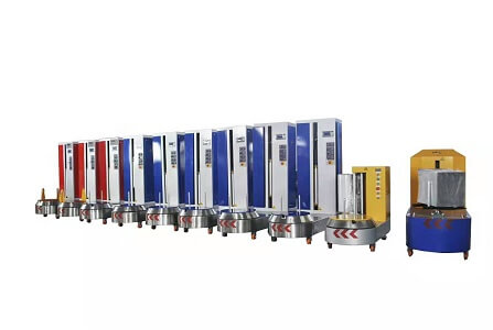 luggage and suitcase stretch wrapping machine