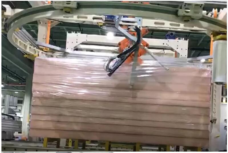 Wrapping a pallet in 0.8 minutes- is this a high-speed ring type pallet packaging machine?